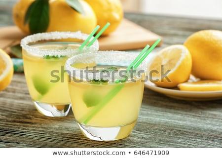 vodka · citrom · üveg · izolált · fehér · vágási · körvonal - stock fotó © digifoodstock
