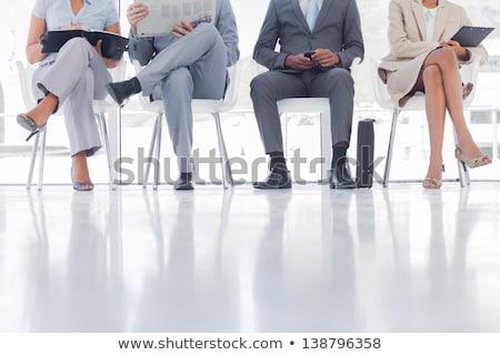 бородатый · молодые · бизнесмен · газета · портфель · бизнеса - Сток-фото © wavebreak_media