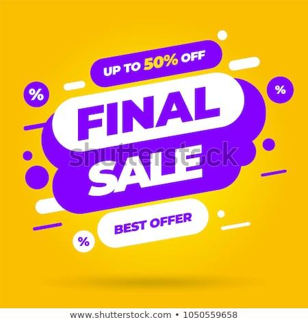 Szuper vásár promóciós szalag sablon terv Stock fotó © SArts