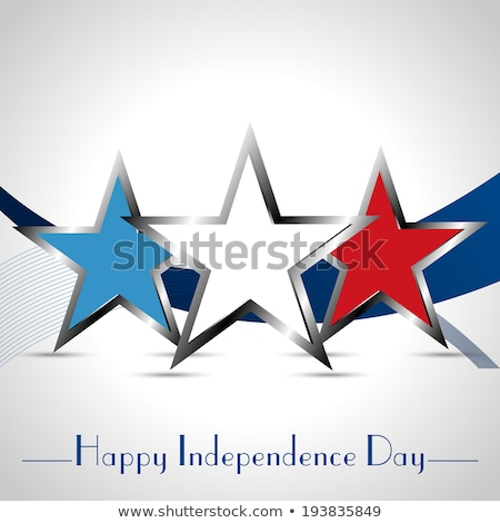 american independence day background with three silver stars Stock photo © SArts