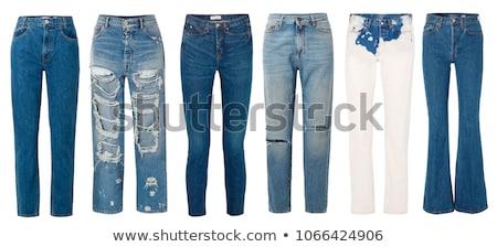 Textuur mode weefsel donkere tiener Stockfoto © kayros