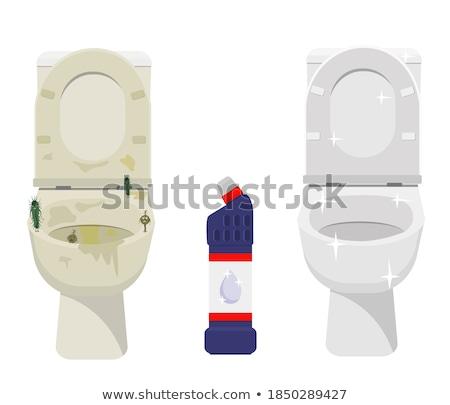 cleaning white toilet bowl stock photo © ssuaphoto