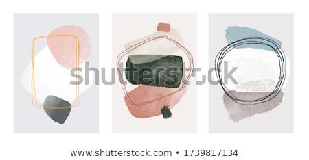 szett · tinta · festék · keret · kéz · absztrakt - stock fotó © swillskill