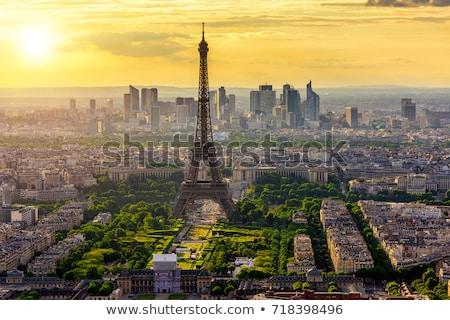 Stok fotoğraf: Güzel · görmek · Paris · akşam · arka · plan · binalar