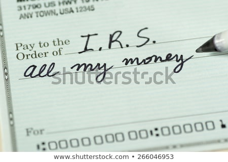 Podatku ból finansowych opłaty głowy tekst Zdjęcia stock © Lightsource