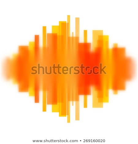 Blurred waveform made of lines Stock photo © SwillSkill