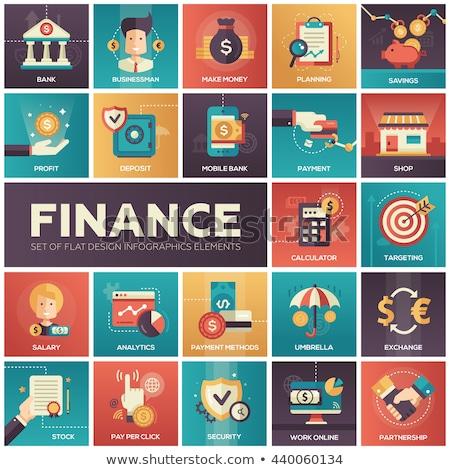 Store analytics icon ontwerp business financieren Stockfoto © WaD