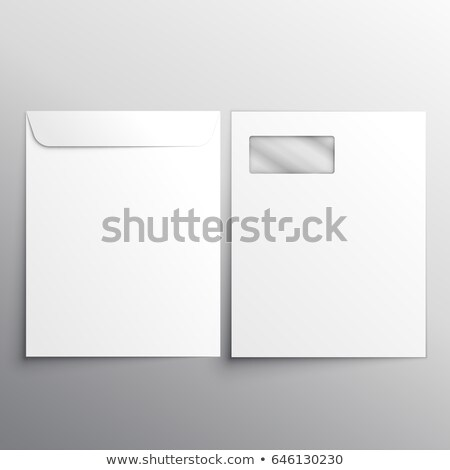 Voll Briefkopf Umschlag zurück Seite Web Stock foto © SArts