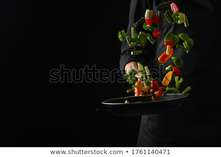 şef · yaratıcı · gıda · komik · karikatür · sebze - stok fotoğraf © fisher