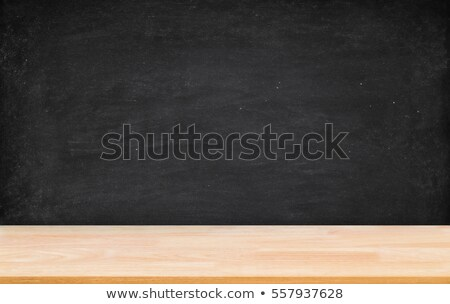 blackboard wall wood floor background school black board woode stock photo © vladimirs