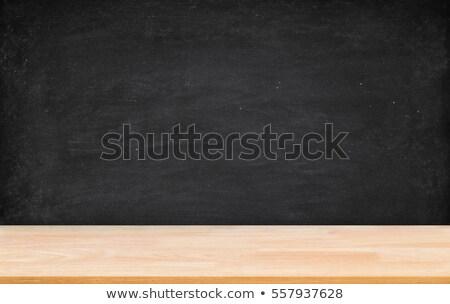 Pizarra pared piso de madera escuela Foto stock © Vladimirs