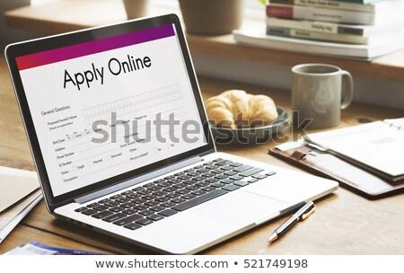 Laptop schermo prenotazione ora moderno lavoro Foto d'archivio © tashatuvango