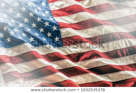 közelkép · csillag · Amerika · zászló · szövet - stock fotó © nobilior