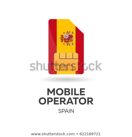 携帯 · 演算子 · カード · フラグ · 抽象的な · デザイン - ストックフォト © Leo_Edition