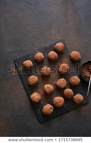 Chocolate truffles and pralines Stock photo © Digifoodstock