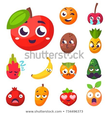 Orange Früchte Maskottchen Zeichentrickfigur Hände Gesicht Stock foto © Krisdog