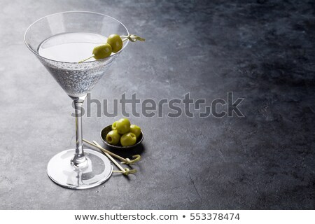 Cóctel martini mesa primer plano negro alimentos Foto stock © wavebreak_media