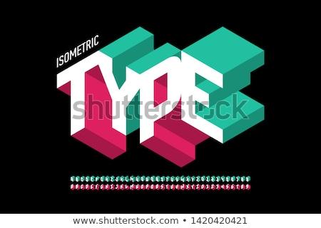 3D フォント アルファベット フル 文字 青 ストックフォト © timurock