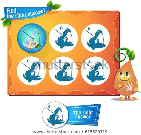 見つける 右 影 トンボ ゲーム 子供 ストックフォト © Olena