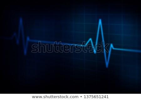 Orvosi elektrokardiogram kék szín absztrakt háttér Stock fotó © SArts