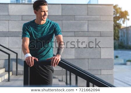sportsman standing on stairs  Stock photo © LightFieldStudios