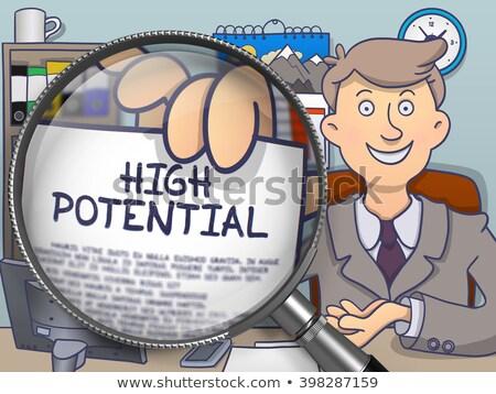 Hoog potentieel lens doodle stijl zakenman Stockfoto © tashatuvango
