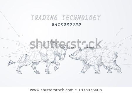 Медведи Фондовый рынок бык несут силуэта животного Сток-фото © Krisdog