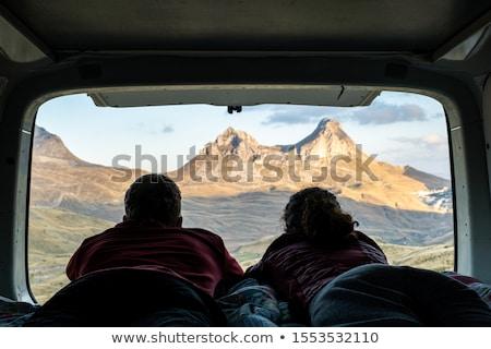 Couple lying in camper van Stock photo © IS2
