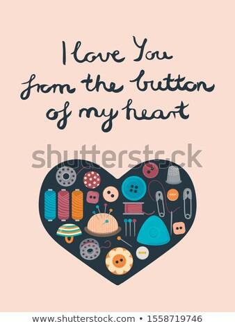 Сток-фото: формы · сердца · швейных · Кнопки · любви · рукоделие