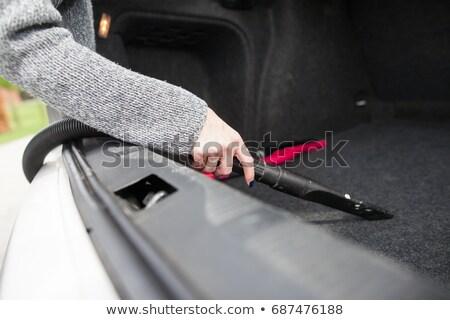 車 クローズアップ 便利屋 真空掃除機 赤 黒 ストックフォト © AndreyPopov