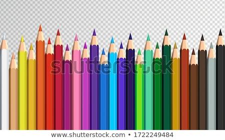 Renk kalemler şeffaflık üst görmek arka plan Stok fotoğraf © Sonya_illustrations