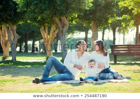ストックフォト: 幸せ · 小さな · 家族 · 時間 · 屋外 · 夏