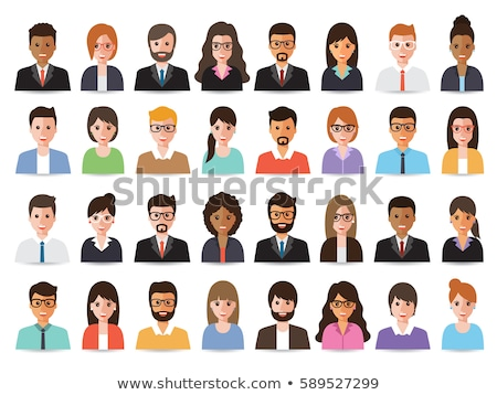 Vector mensen avatar iconen mannelijke vrouwelijke Stockfoto © blumer1979