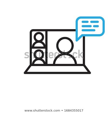 Homme femme communication icône sexe Photo stock © blumer1979