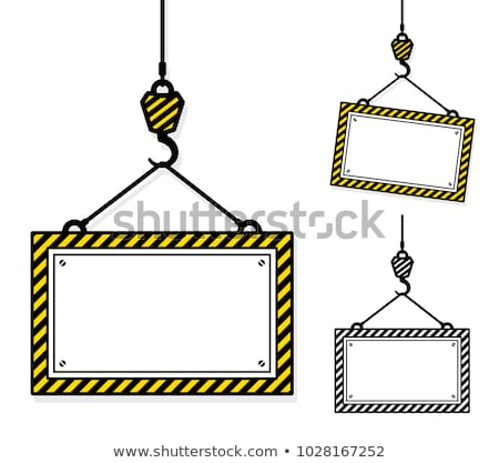 Three heavy duty signboards with chevron frames Stock photo © adrian_n