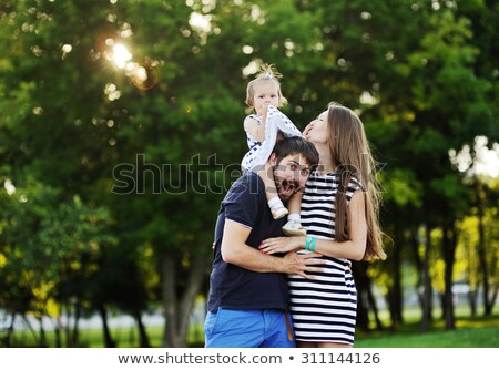 Family heading out for picnic Stock photo © IS2