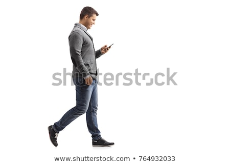 man · lopen · smartphone · voetganger · illustratie - stockfoto © adrenalina