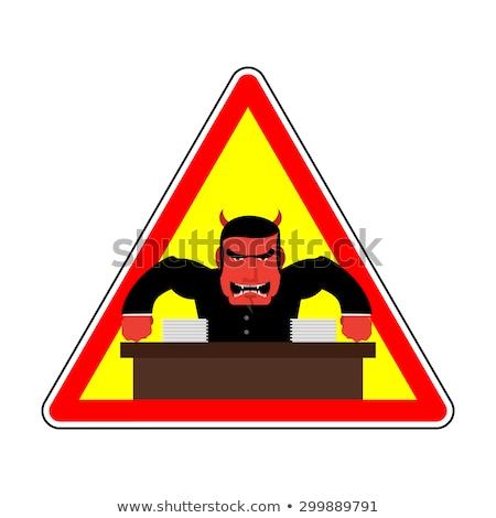 gevaar · boos · baas · agressief · hoofd · Rood - stockfoto © popaukropa