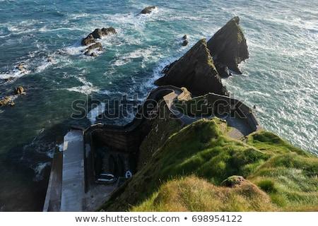 tête · péninsule · faible · niveau · nuages · plage - photo stock © morrbyte