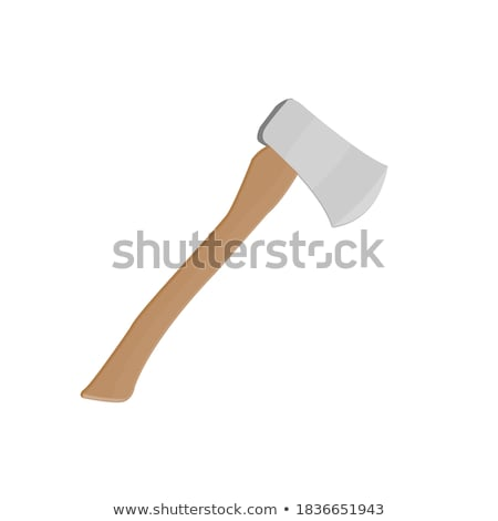 Sharp Axe with Handle Silhouette in Black Color Stock photo © robuart