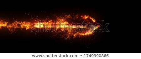 tűz · nyíl · lángoló · nő · felfelé · izolált - stock fotó © psychoshadow