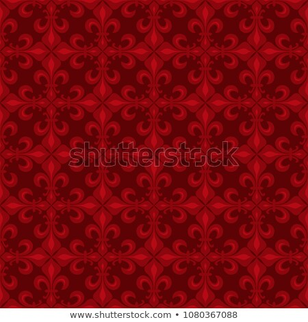 Lace-de-Luce (Lace of Lilies), Red seamless pattern Stock photo © Glasaigh