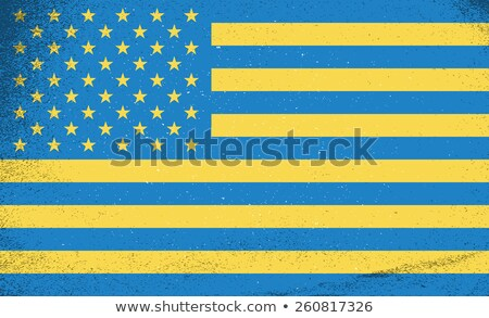 Flags of countries. Ukraine and USA combined together. Vector illustration. Stock photo © FoxysGraphic