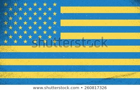 kaart · europese · landen · Blauw · grijs · gemeenschap - stockfoto © foxysgraphic