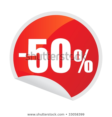 50 Off Colorful Offer Glossy Shiny Vector Icon Button Design  Stock photo © rizwanali3d