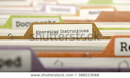 Folder Register - Operating Instructions. 3d Stock photo © tashatuvango
