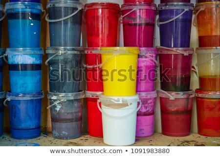 üvegek · négy · festék · csoport · üveg · nyomtatott - stock fotó © lunamarina