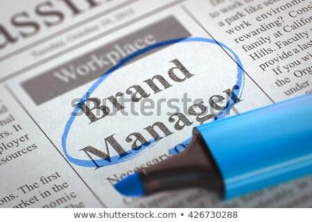 job opening brand manager 3d stock photo © tashatuvango