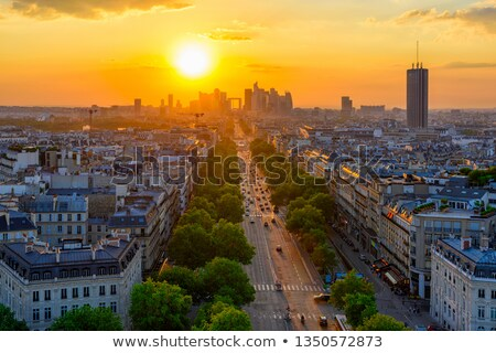 La Defense in evening Stock photo © Givaga
