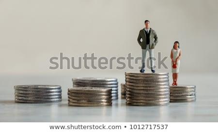 Sexe salaire écart tableau graphique Photo stock © unikpix